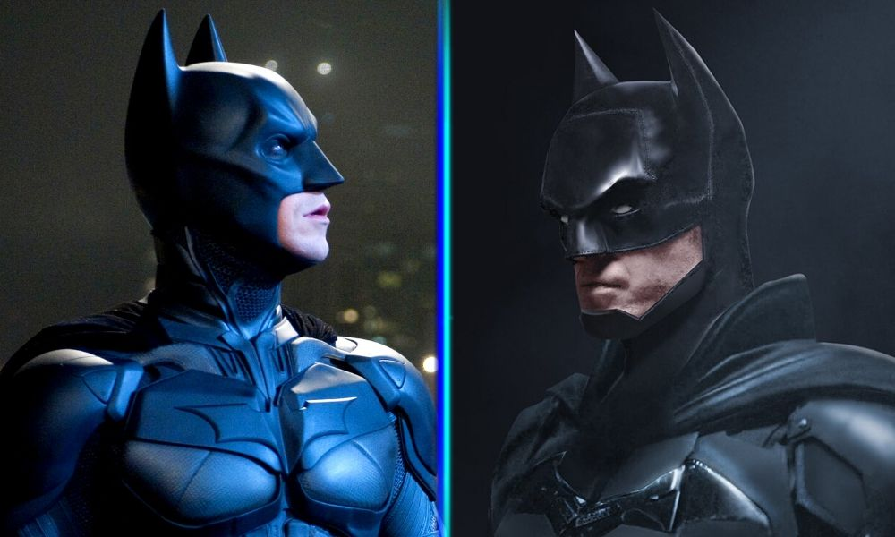 trajes de Batman de Pattinson y Bale