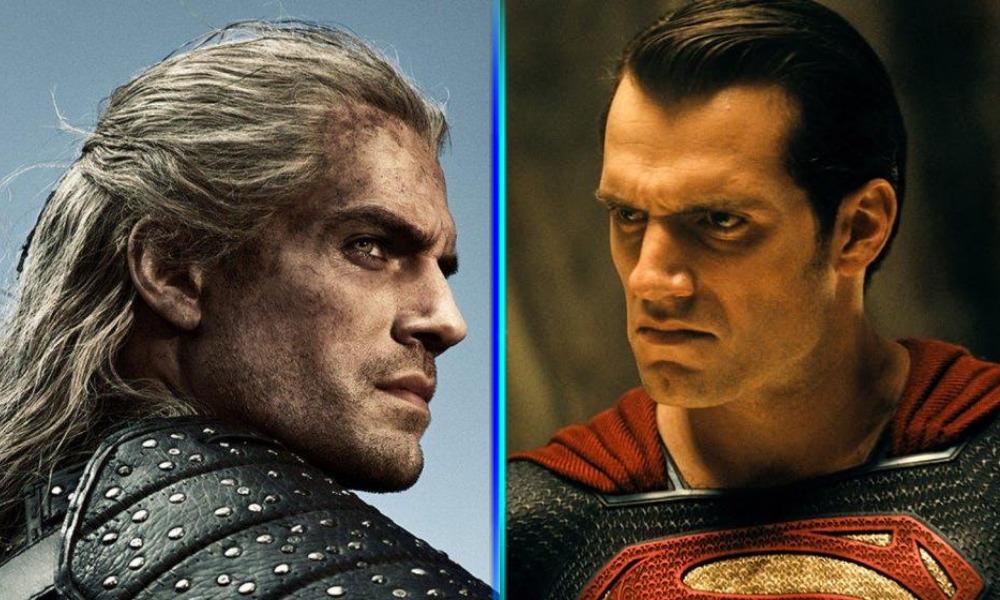 fan poster de Geralt vs Superman