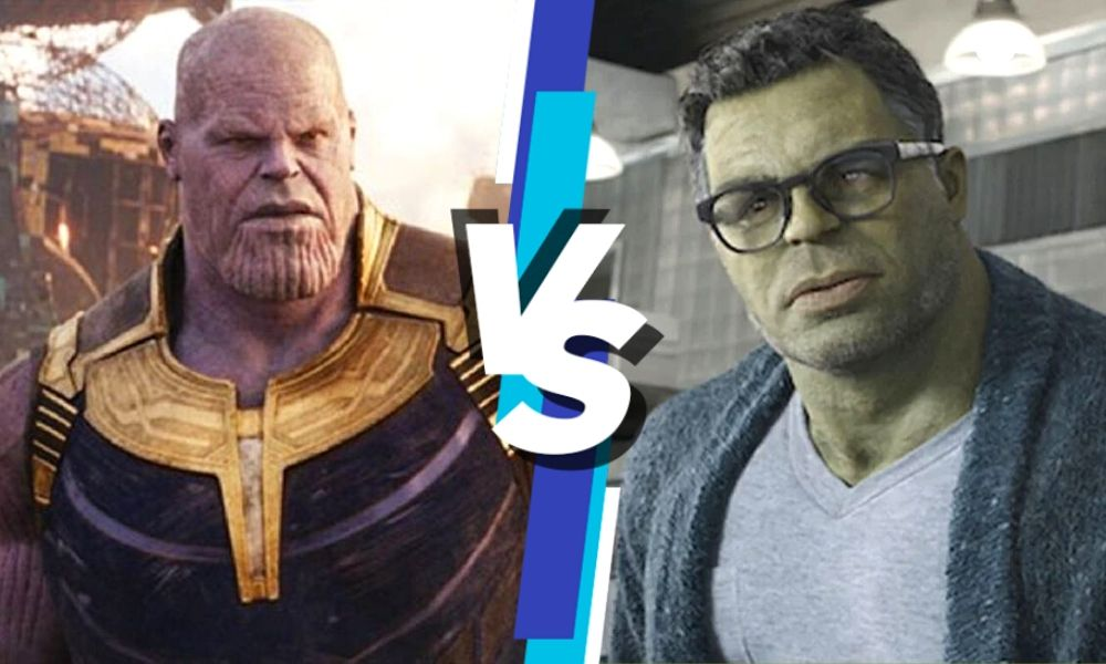 pelea entre Smart Hulk y Thanos