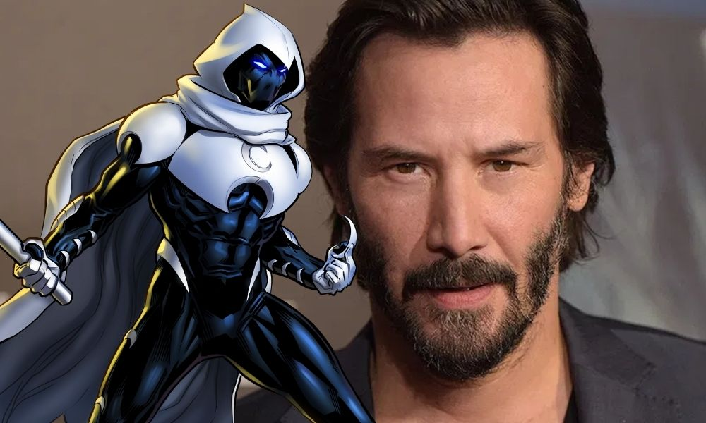 Fan art de Keanu Reeves como Moon Knight