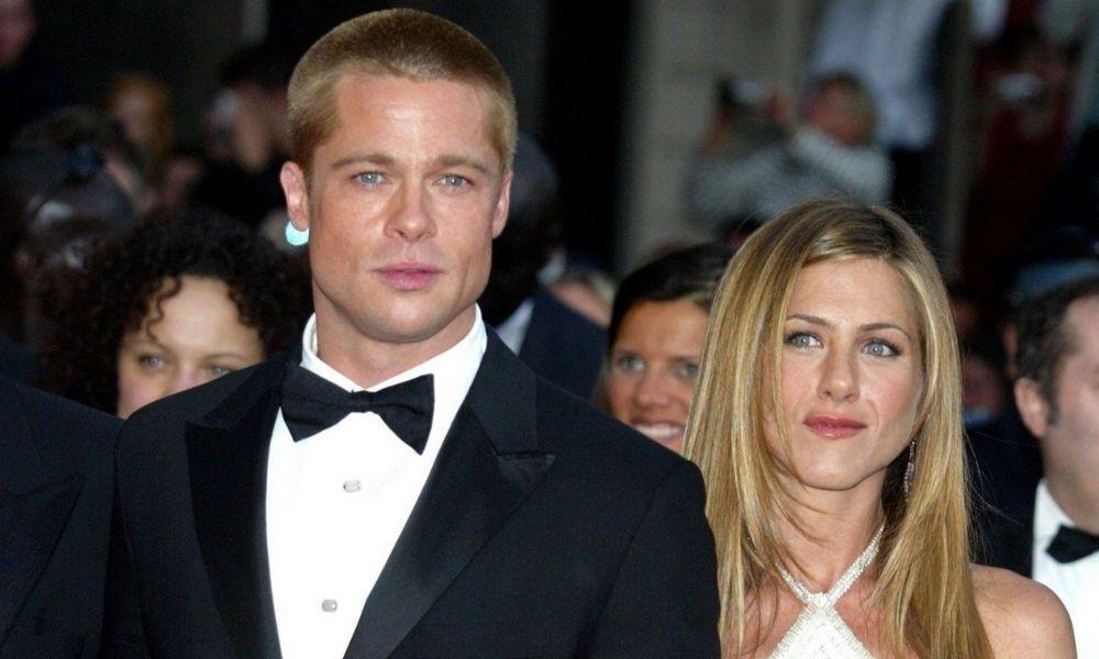 Jennifer Aniston y Brad Pitt juntos