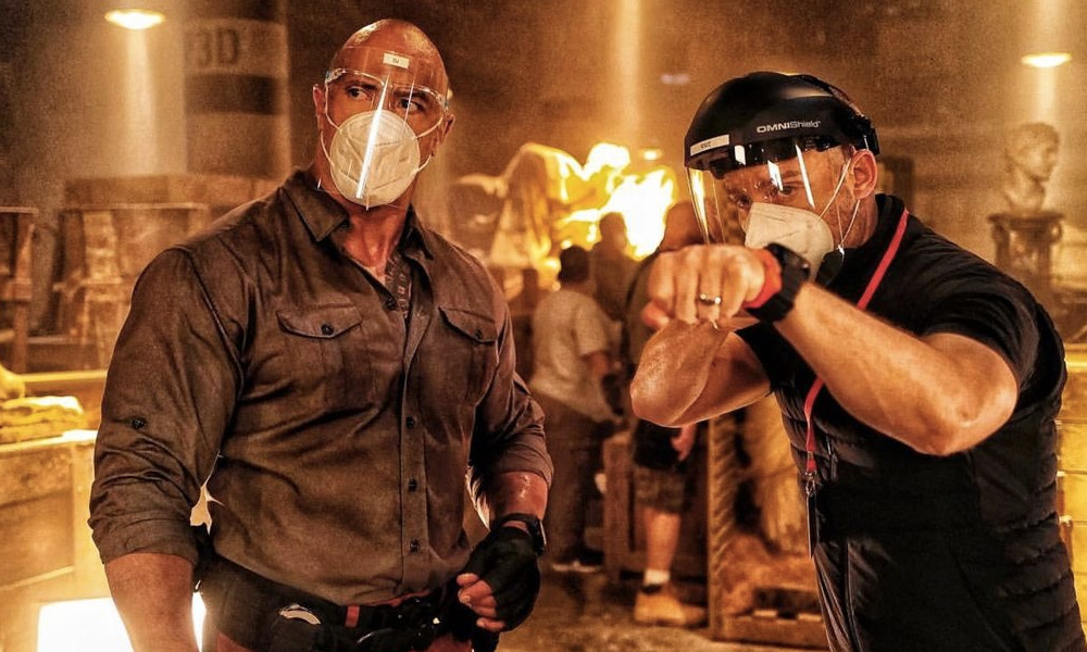 The Rock publica una nueva foto de Red Notice