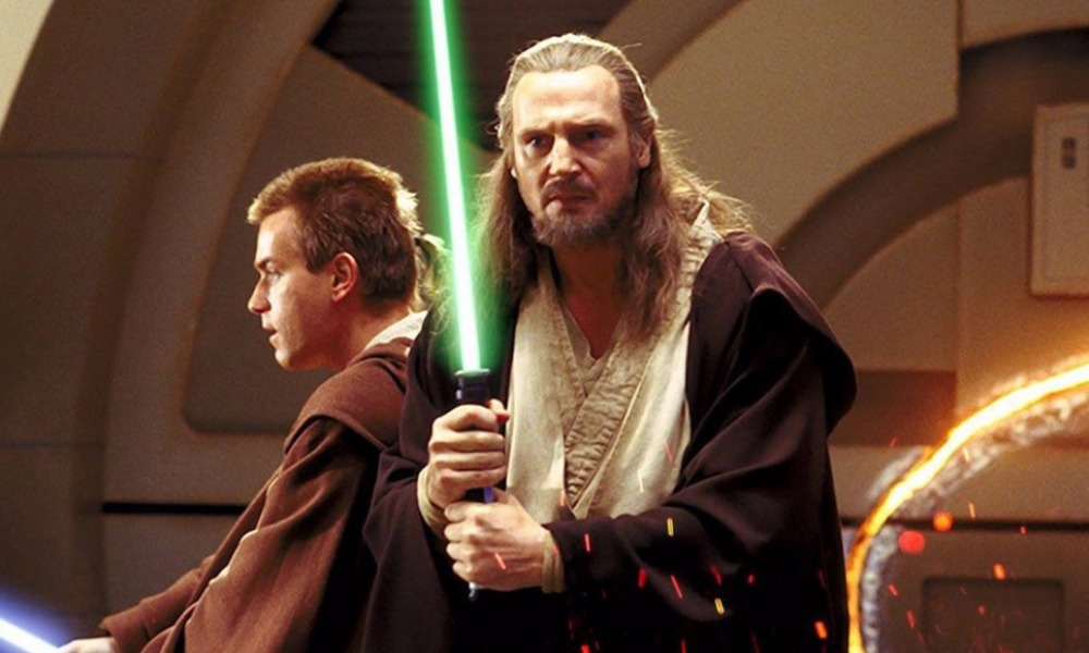 Liam Neeson mostró su lightsaber