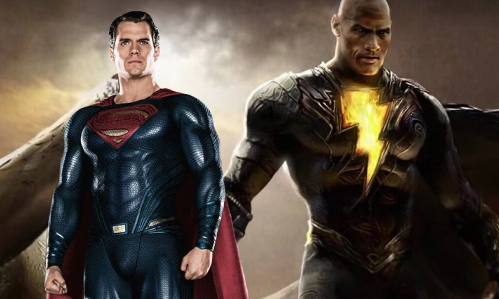 enfrentamiento de Black Adam y Superman
